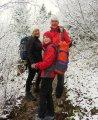 Ambiance hivernale & bonne humeur! Alexandra, son fils Loup (avec son super sac tout neuf!) & Yann