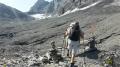 Arrivée sur le bas du glacier Lötschegletscher